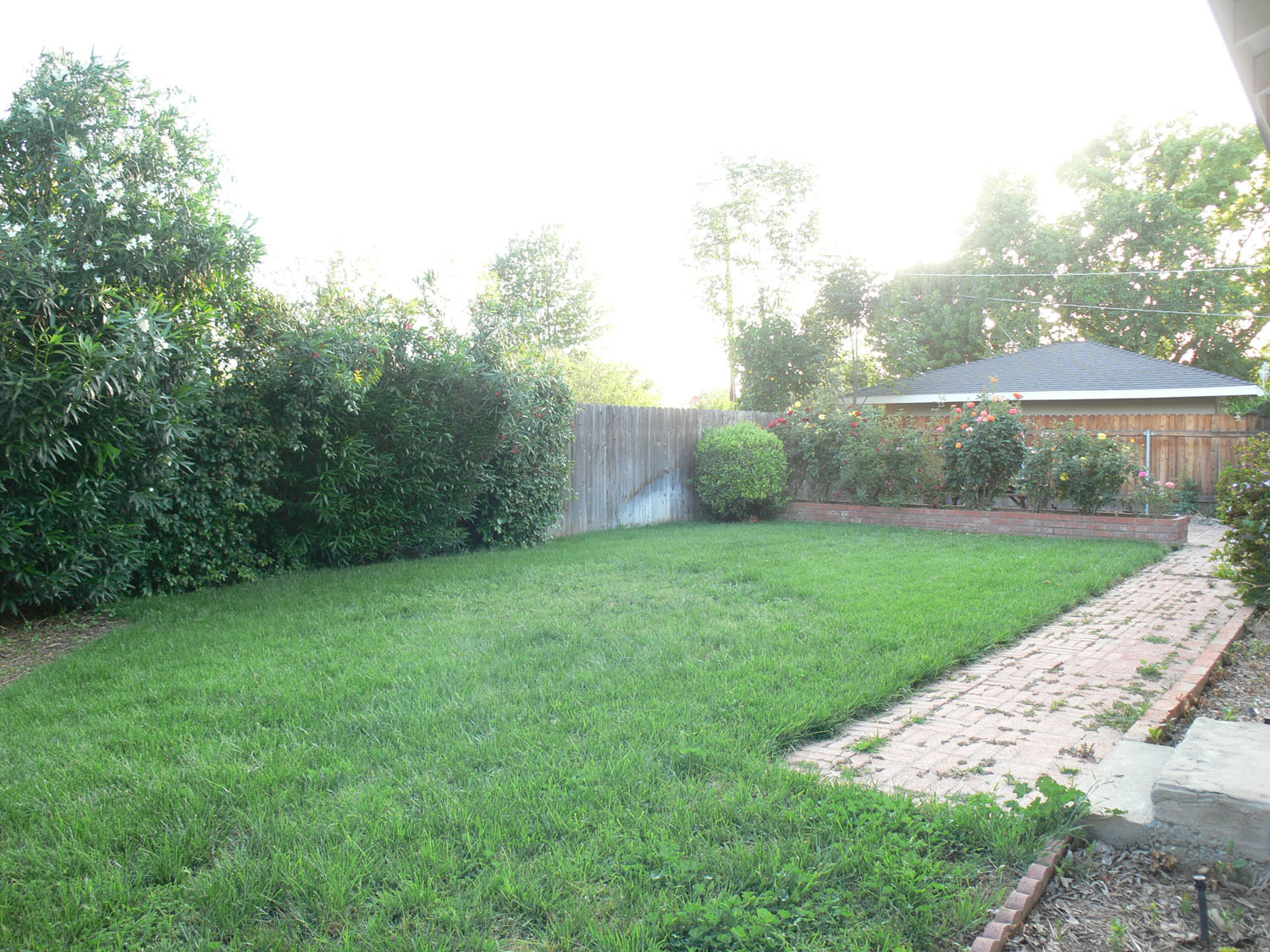 One of the largest lots on the street (11,325 sq ft) -- over a quarter acre! There is a whole separate yard behind fence to left. See next photo.