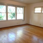Four bedrooms, with three of them having exposed hardwood floors like this. Nice!
