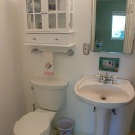 Private and charming 3/4 bathroom (shower to the right) attached to bedroom 3.  Perfect for guests.