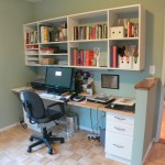 Alternate view of bedroom 3 on main level.  Practical and convenient built-in desk and bookshelves.