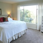 Enter the master suite (bedroom #4) through family room or through French doors on outside deck.  Large picture window was made for view of mountains!
